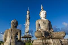 Immagine concreta incompleta non finita di Buddha Fotografie Stock Libere da Diritti