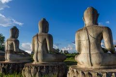 Immagine concreta incompleta non finita di Buddha Immagini Stock