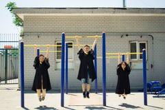 Immagine creativa asiatica di graduazione Fotografia Stock Libera da Diritti