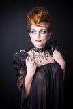 Immagine creativa del sangue e di trucco della regina diabolica Fotografie Stock