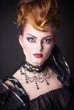 Immagine creativa del sangue e di trucco della regina diabolica Fotografia Stock Libera da Diritti