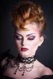 Immagine creativa del sangue e di trucco della regina diabolica Fotografie Stock Libere da Diritti