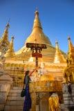 Immagine d'adorazione di Buddha Fotografie Stock Libere da Diritti