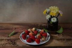 Immagine d'annata dei frutti Fotografia Stock