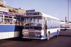 Immagine d'annata del bus in Jersey Fotografie Stock Libere da Diritti