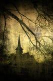 Immagine d'annata del castello di Dracula, la Transilvania, Romania Fotografia Stock