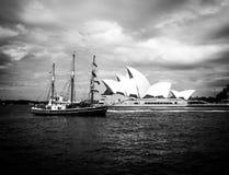 Immagine d'annata del teatro dell'opera di Sydney Fotografia Stock Libera da Diritti