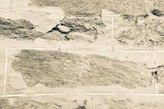 Immagine d'annata della fine della parete di pietra su Fotografie Stock Libere da Diritti