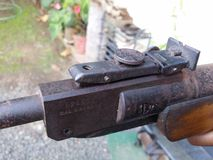 Immagine d'annata di divertimento di caccia della pistola della pistola Immagini Stock