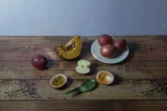 Immagine d'annata di natura morta dei frutti Fotografia Stock