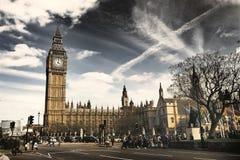 Immagine d'annata di stile di Big Ben, Londra Fotografie Stock