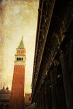 Immagine d'annata di stile di Venezia Immagini Stock