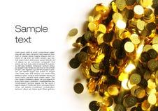 immagine 3d delle monete con fondo bianco Fotografie Stock Libere da Diritti