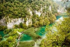 Immagine da sopra, Plitvice, Croazia Immagine Stock