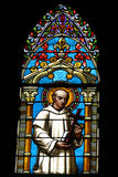 Immagine da una finestra della chiesa Fotografie Stock Libere da Diritti