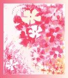 Immagine decorativa dei fiori royalty illustrazione gratis