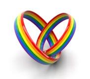 Immagine degli anelli di LGBT Fotografia Stock