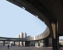 Immagine degli edifici per uffici moderni in centrale Immagini Stock Libere da Diritti