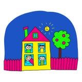 Immagine dei bambini e della scuola felici Fotografia Stock