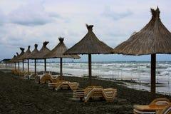 Immagine dei bungalow sulla spiaggia Immagine Stock