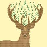 Immagine dei cervi delle forme geometriche Immagine Stock