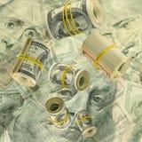 Immagine dei dollari su fondo bianco Immagine Stock