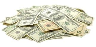 Immagine dei dollari su fondo bianco Fotografia Stock Libera da Diritti
