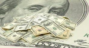 Immagine dei dollari su fondo bianco Immagini Stock Libere da Diritti