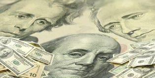Immagine dei dollari su fondo bianco Fotografia Stock
