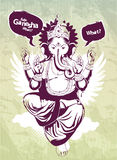 Immagine dei graffiti con l'idolo indiano Ganesha Immagine Stock Libera da Diritti