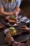 Immagine dei piatti del vegano immagini stock libere da diritti
