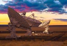 Immagine dei radiotelescopi Fotografia Stock