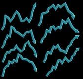 Immagine dei raggi x delle frecce Fotografia Stock Libera da Diritti