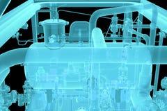 Immagine dei raggi x di attrezzatura industriale immagine stock libera da diritti