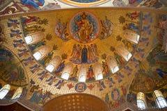 Immagine dei san sulla cupola del tempio Fotografia Stock