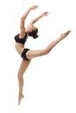 Immagine del ballerino di balletto grazioso che posa nel salto Fotografia Stock
