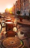 Immagine del caffè della via Immagini Stock