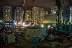 Immagine del cantiere del Minato Mirai fotografia stock libera da diritti