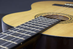 Immagine del corpo della chitarra Fotografia Stock