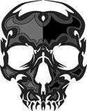 Immagine del cranio con il vettore delle fiamme Immagine Stock