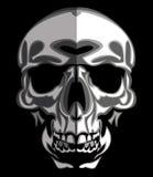 Immagine del cranio sul vettore nero Fotografia Stock Libera da Diritti