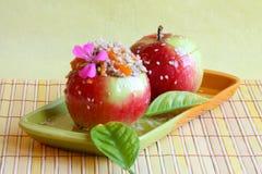 Immagine del dessert: Mele di Candy - foto di riserva Immagine Stock Libera da Diritti