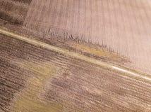 immagine del fuco la vista aerea dell'agricoltura astratta sistema le strutture Immagini Stock Libere da Diritti