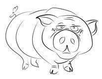 Immagine del fumetto del maiale enorme royalty illustrazione gratis