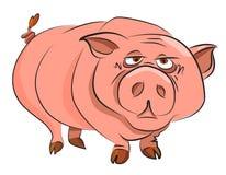 Immagine del fumetto del maiale enorme illustrazione di stock