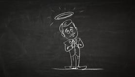 Immagine del fumetto del personaggio di affari Media misti illustrazione di stock