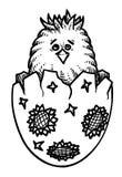 Immagine del fumetto del pulcino Simbolo di Pasqua illustrazione di stock