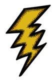 Immagine del fumetto dell'icona del fulmine Simbolo di Bolt illustrazione di stock