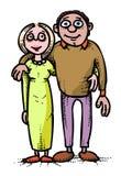 Immagine del fumetto dell'icona della famiglia Parents il simbolo illustrazione vettoriale