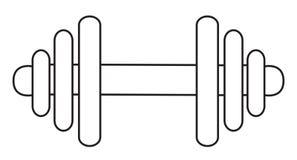 Immagine del fumetto dell'icona della testa di legno Simbolo del bilanciere Fotografie Stock Libere da Diritti